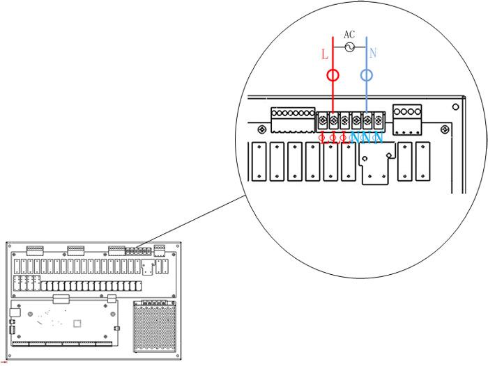 强电输入端口接线说明